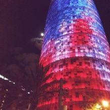 Башня Агбар, одно из достопримечательнестей Барселоны.