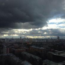 Пасмурная Москва.